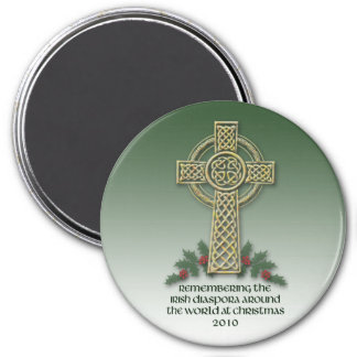 Irish Diaspora Christmas Fridge Magnet