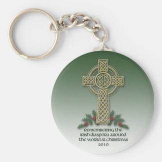 Irish Diaspora Christmas Key Chain