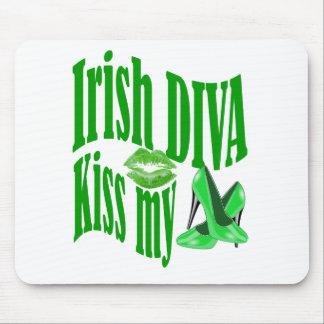 Irish diva kiss my shoes mouse pad