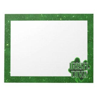 IRISH DIVA St. Patrick's Day Shamrock Memo Pads