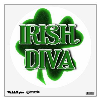 IRISH DIVA St. Patrick's Day Shamrock Wall Sticker
