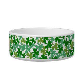 Irish Dog Bowl Shamrocks Personalized Name Bone
