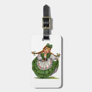 Irish Doll Bag Tag