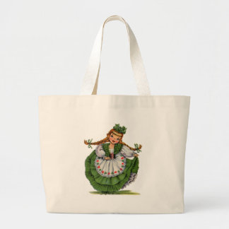 Irish Doll Large Tote Bag