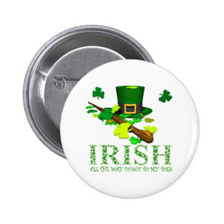 IRISH DOWN TO MY TOES BUTTON