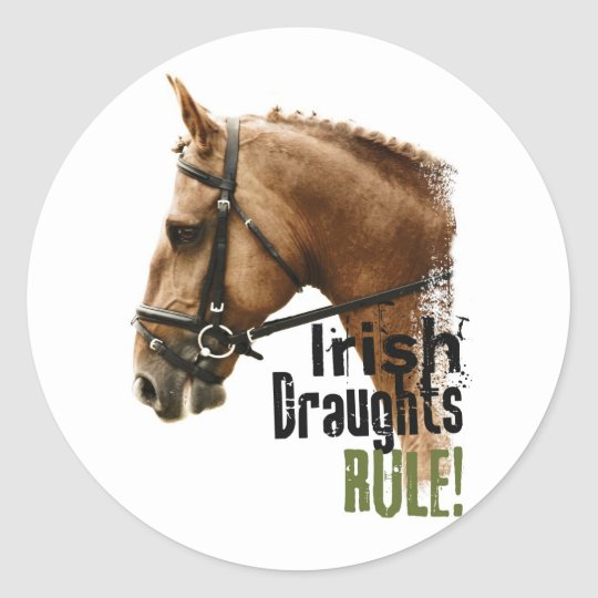 Irish Draughts Rule Classic Round Sticker