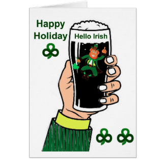 Irish Drink image for greeting-card Card