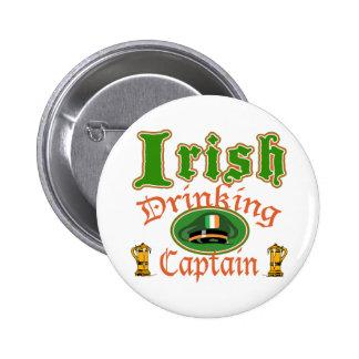 Irish Drinking Cptn Button