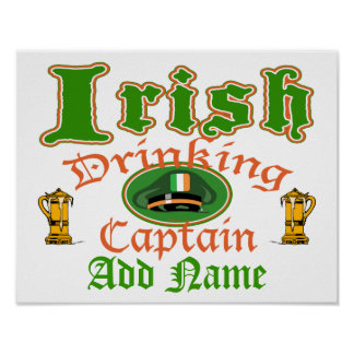 Irish Drinking Cptn Poster