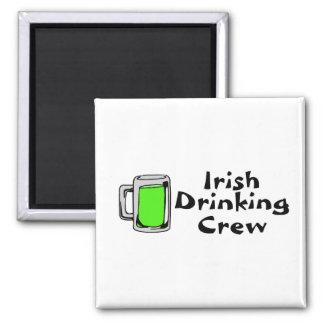 Irish Drinking Crew Green Beer Magnet