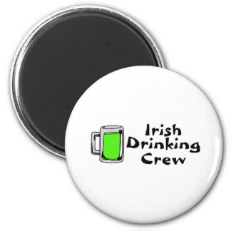 Irish Drinking Crew Green Beer Refrigerator Magnet
