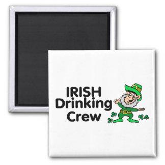 Irish Drinking Crew Leprechaun Refrigerator Magnets
