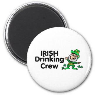 Irish Drinking Crew Leprechaun Refrigerator Magnet