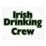 Irish Drinking Crew Personalized Invitation