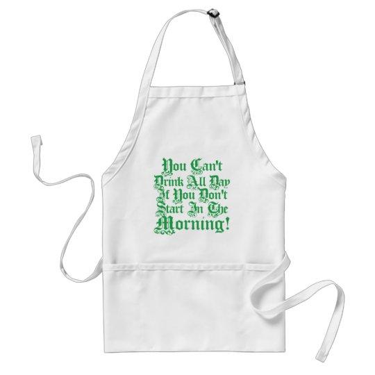 Irish Drinking Humor Adult Apron