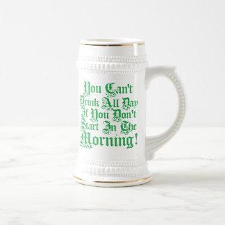 Irish Drinking Humor Beer Stein Mug