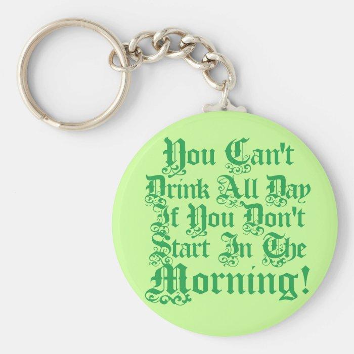 Irish Drinking Humor Keychain