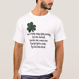 Irish Drinking Saying 1 - T-Shirt