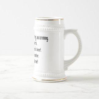 Irish Drinking Saying Stein/Mug
