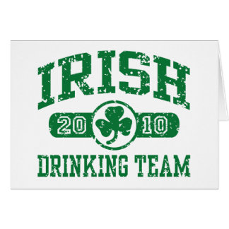 Irish Drinking Team 2010 Card