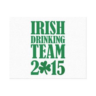 Irish drinking team 2015 gallery wrapped canvas