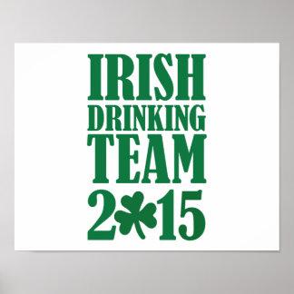 Irish drinking team 2015 poster