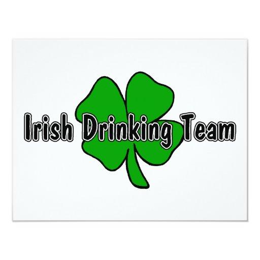 Irish Drinking Team 4.25x5.5 Paper Invitation Card