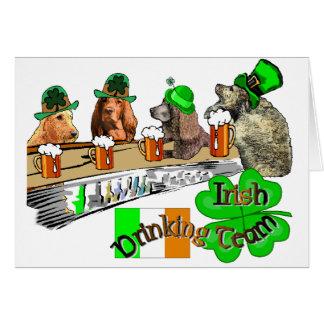 Irish Drinking Team Card