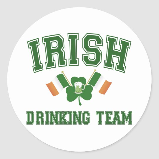 Irish Drinking Team Classic Round Sticker