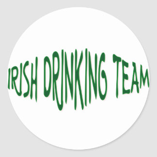 Irish Drinking Team Classic Round Sticker