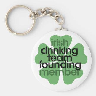 Irish Drinking Team Founding Member Clover Keychain