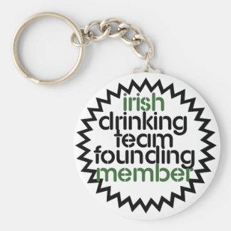 Irish Drinking Team Founding Member Keychain