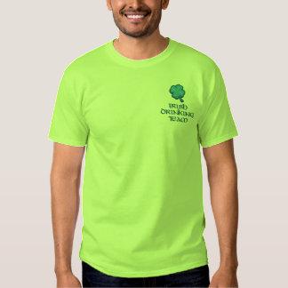 Irish Drinking Team Funny Ireland Embroidered T-Shirt