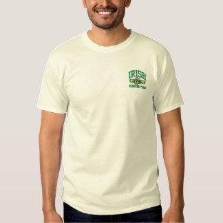 irish drinking team logo small embroidered T-Shirt