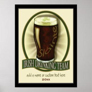 Irish Drinking Team Personalized Poster