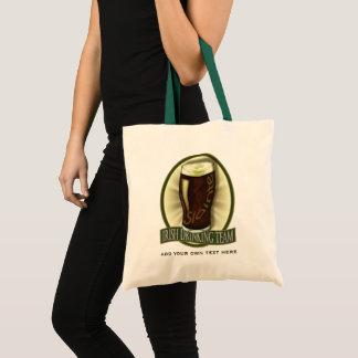 Irish Drinking Team Personalized Tote Bag