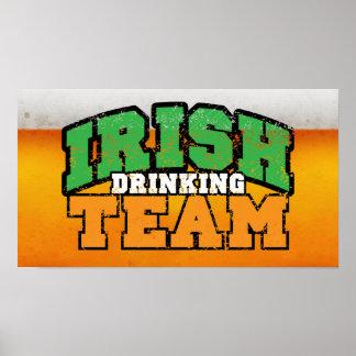 Irish Drinking Team Poster $18.95