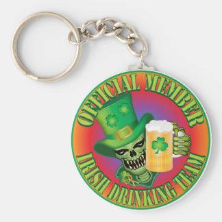 Irish Drinking Team Skull Keychain