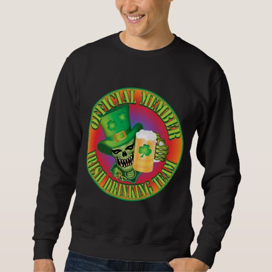 Irish Drinking Team Skull Sweatshirt