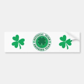 Irish Drinking Team/St. Patrick's Day Car Bumper Sticker