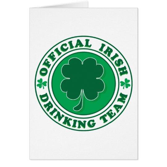 Irish Drinking Team/St. Patrick's Day Card