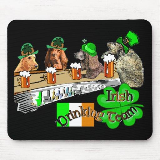 Irish Drinking Team St Patricks Day Mouse Mats