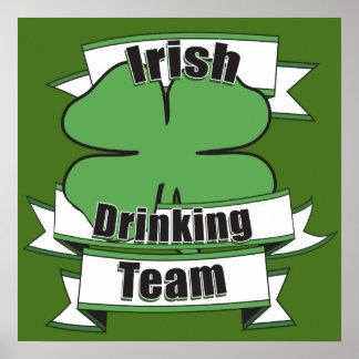 Irish Drinking Team St Patricks Day Posters