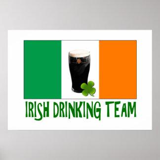 Irish Drinking Team St Patricks or St Paddys Flag. Print