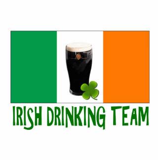 Irish Drinking Team St Patricks or St Paddys Flag. Statuette