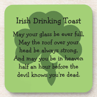 Irish drinking toast beverage coaster