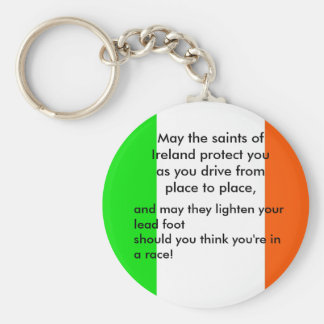 Irish Driver's Blessing Basic Round Button Keychain