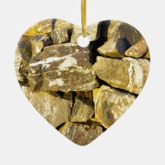 Irish Dry stone wall. Ceramic Ornament