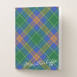 Irish Effects Clan MacAuliffe Tartan Pocket Folder