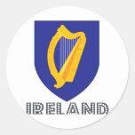 Irish Emblem Classic Round Sticker